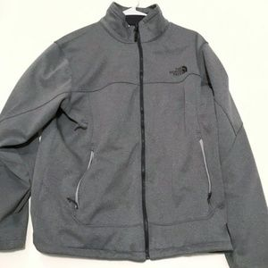 Gray North Face Zip Up Jacket Large